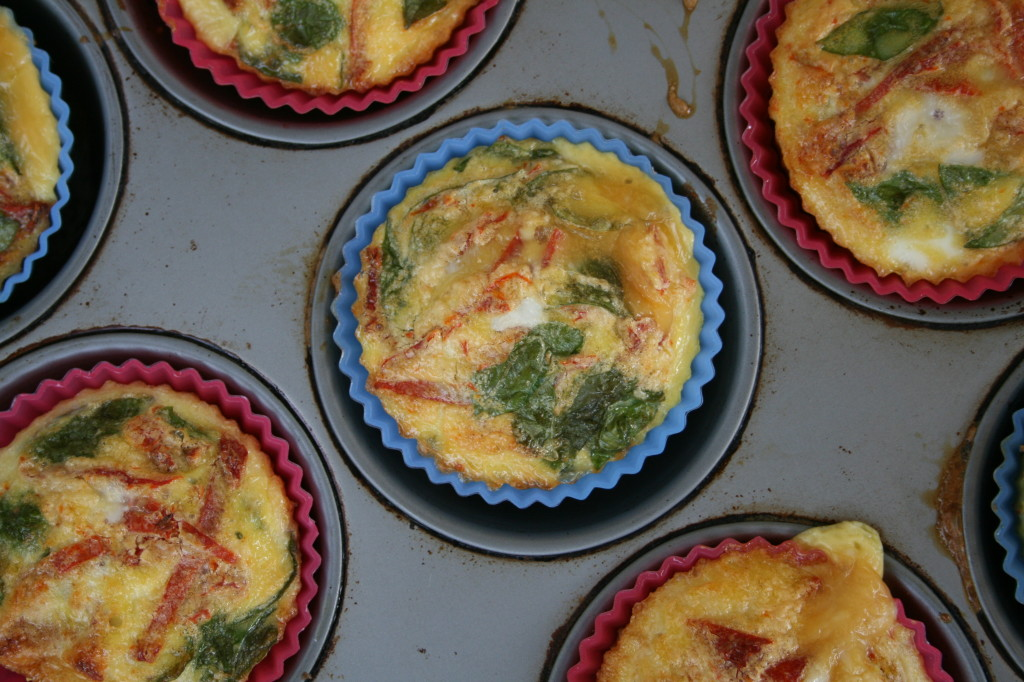Sun Dried Tomato and Basil Frittata Muffins