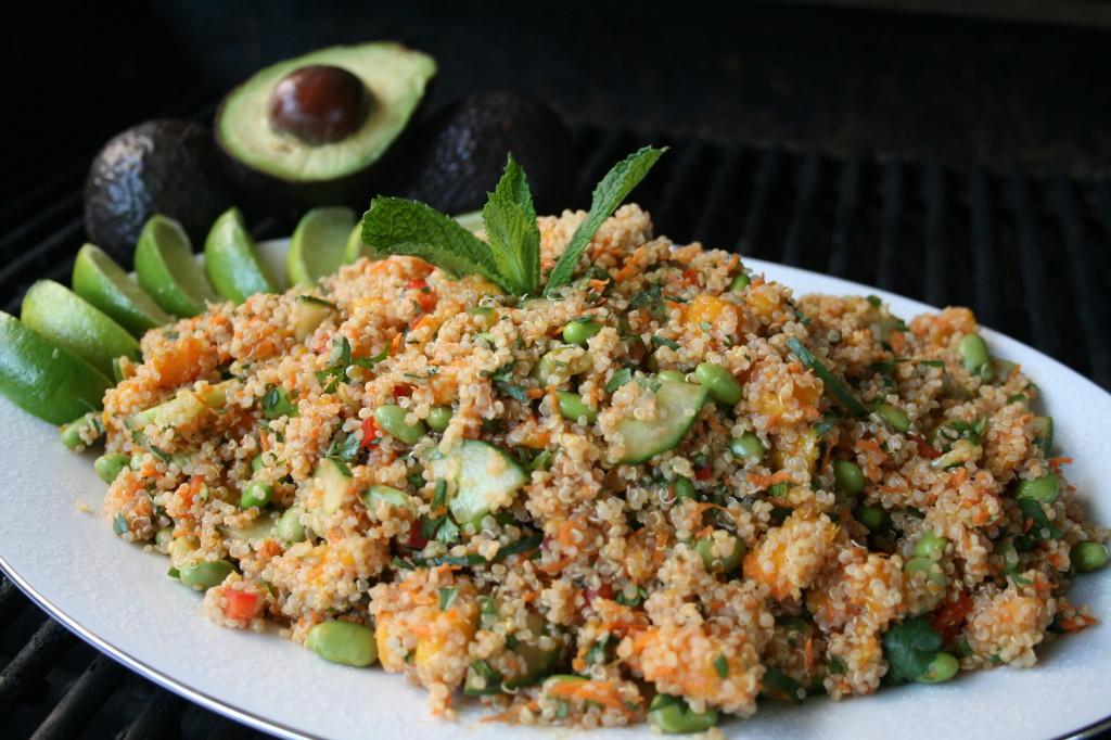 Tropical Mango Edamame Quinoa Salad