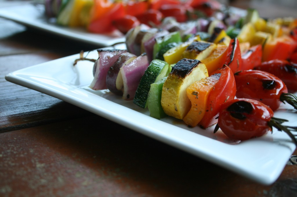 Rainbow Rosemary Skewers