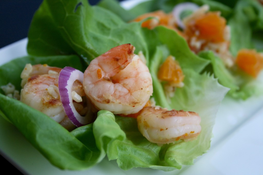 Prawn Lettuce Cups with Mimosa Vinaigrette