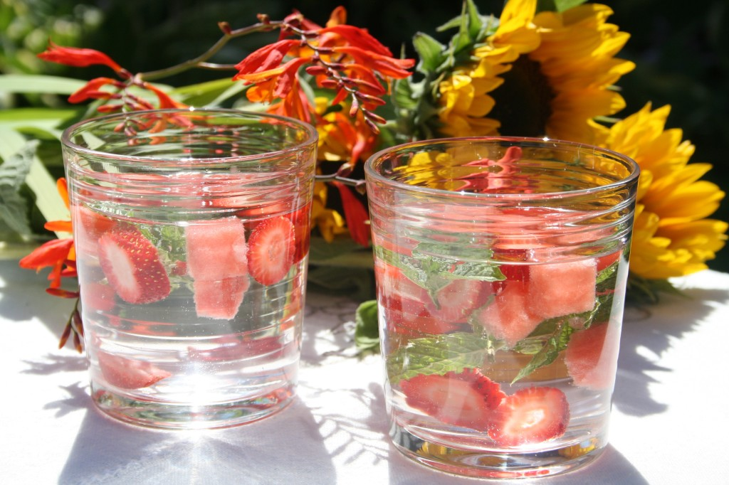 Strawberry Watermelon Mint Infused Water