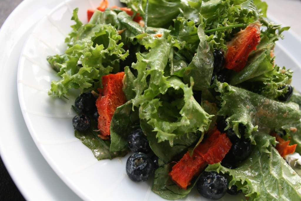 Blueberry Salad with Orange Cashew Dressing