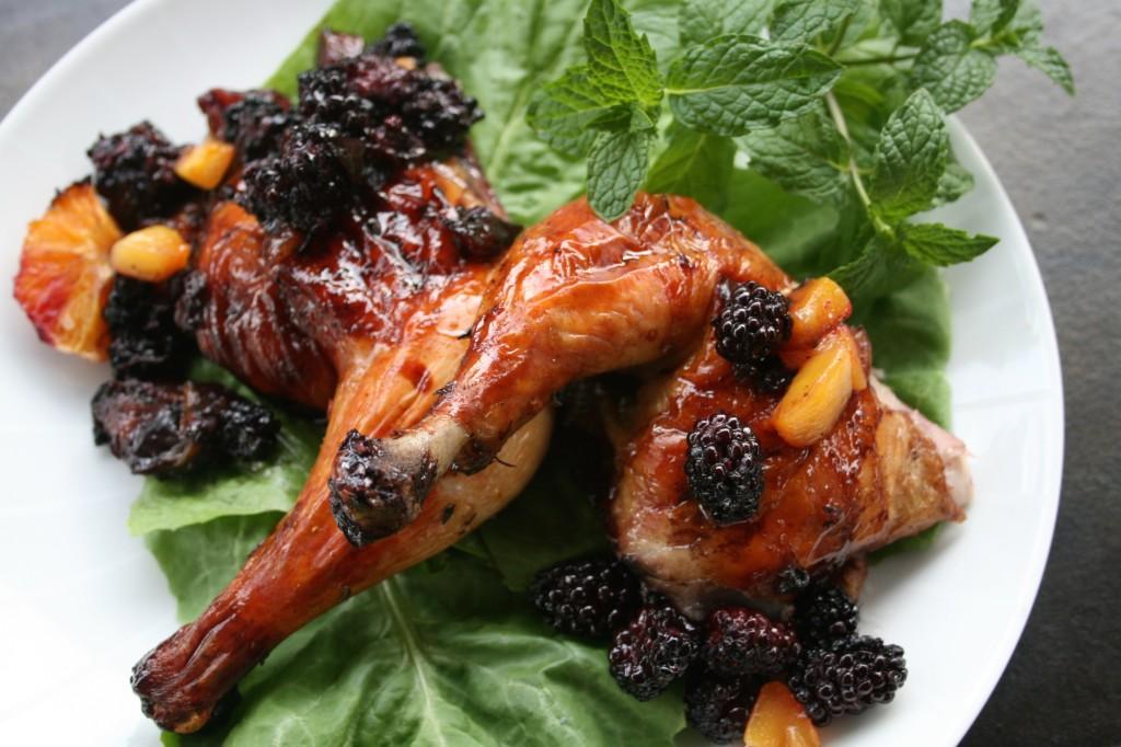 Blackberry Orange Mango Roast Chicken