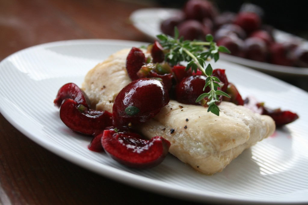 Lime Sole with Cherry Thyme Salsa