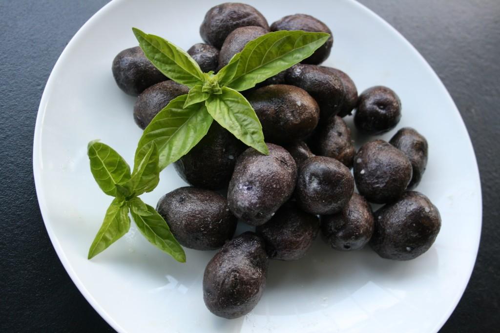 Salt Roasted Purple Potatoes