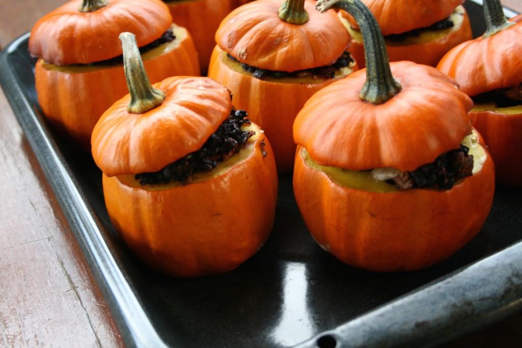 Black Rice Stuffed Pumpkins