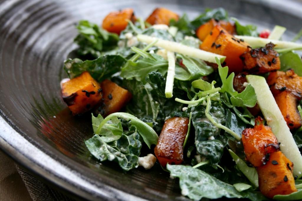 Honey Sesame Glazed Butternut Salad