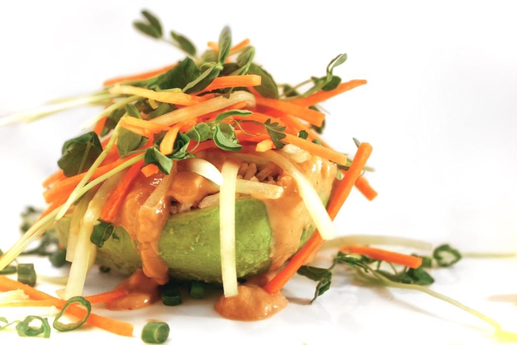 Thai Salad Stuffed Avocado