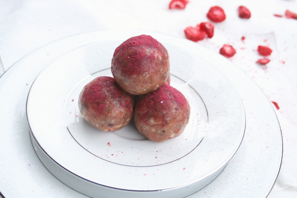 Strawberry Power Balls