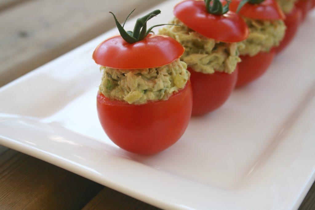 Avocado Tuna Salad Stuffed Tomatoes