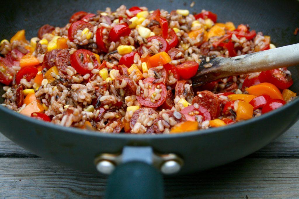 Chorizo and Wild Rice Bowl