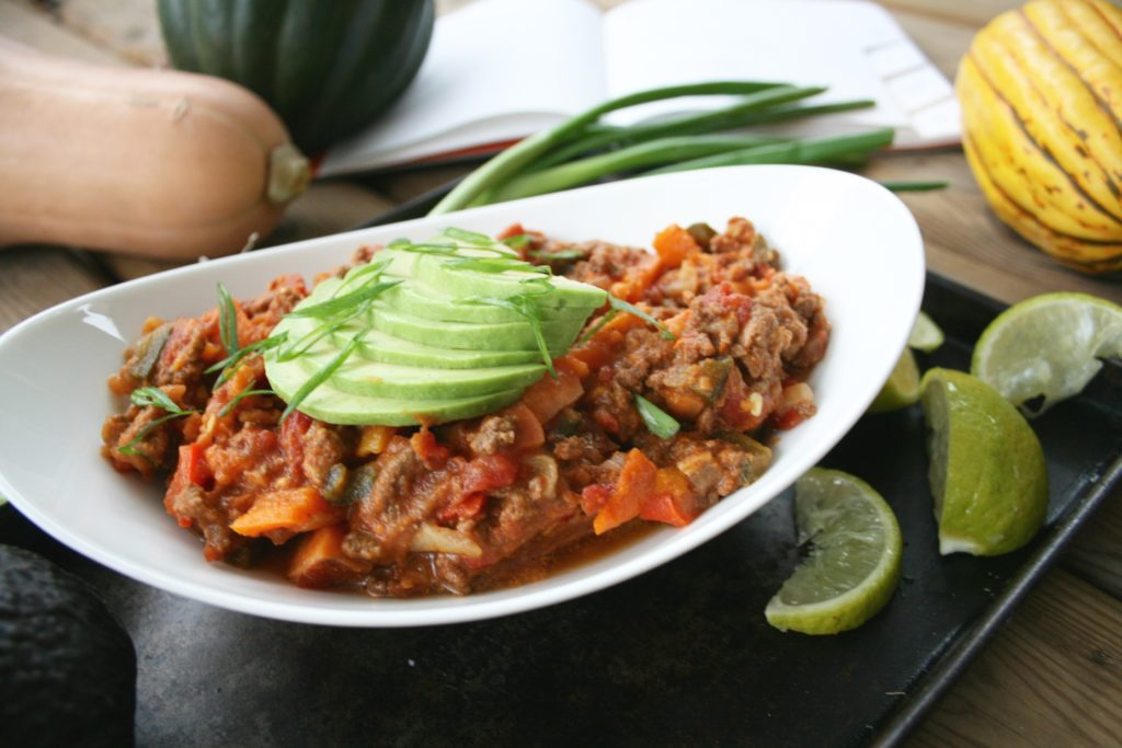 Pumpkin Beef Chorizo Chili